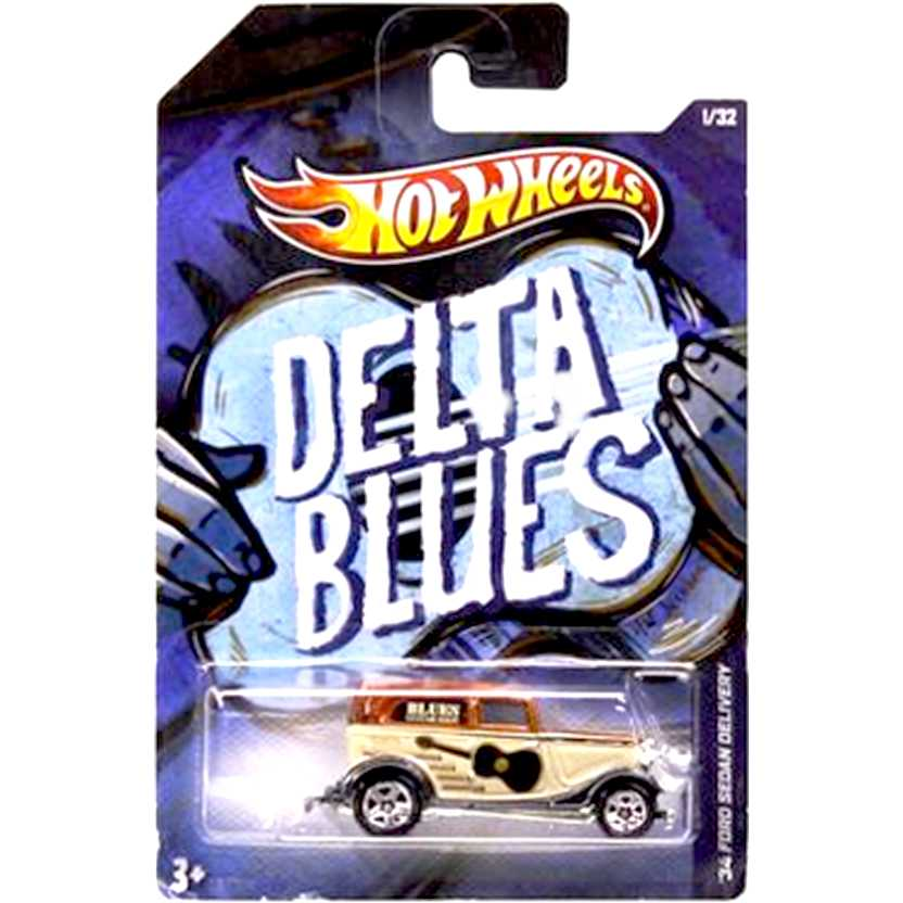 2013 Hot Wheels Jukebox Delta Blues 34 Ford Sedan Delivery Y2052 series 1/32 escala 1/64