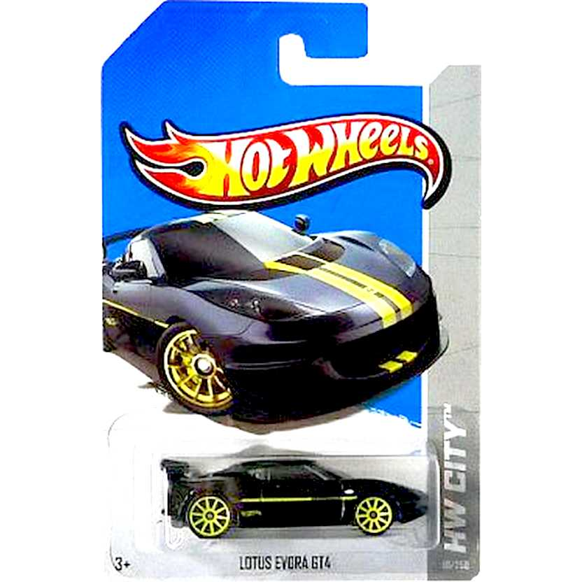 2013 Hot Wheels Lotus Evora GT4 preto X2049 series 10/250 escala 1/64