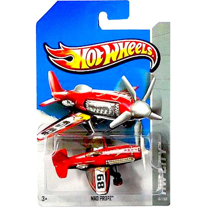 2013 Hot Wheels Mad Propz vermelho X1672 series 16/250 escala 1/64