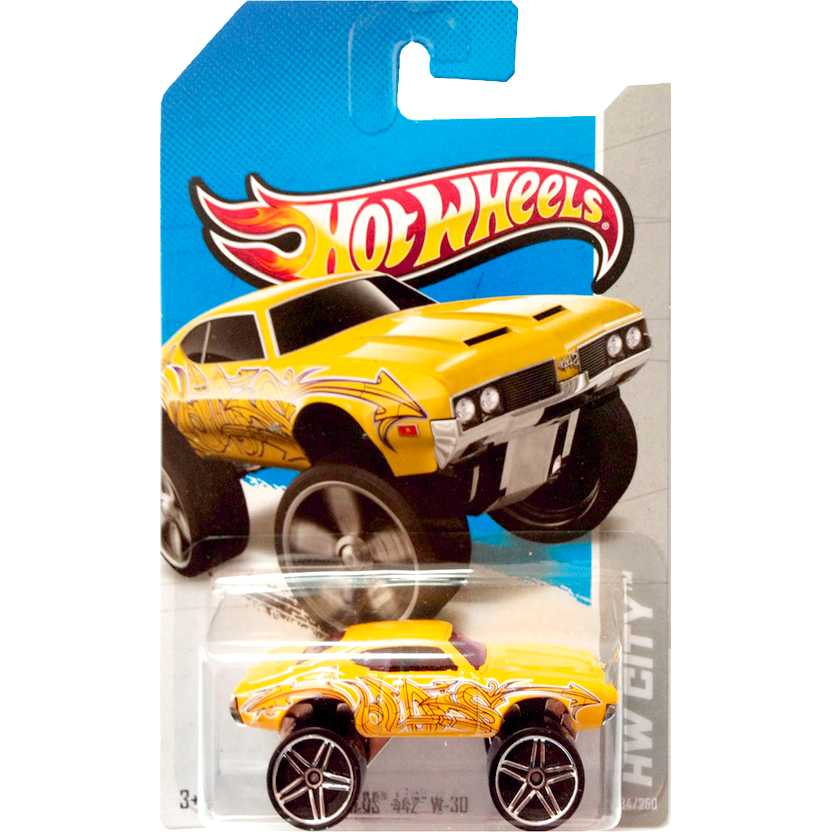 2013 Hot Wheels Olds 442 W-30 amarelo X1686 series 34/250 escala 1/64