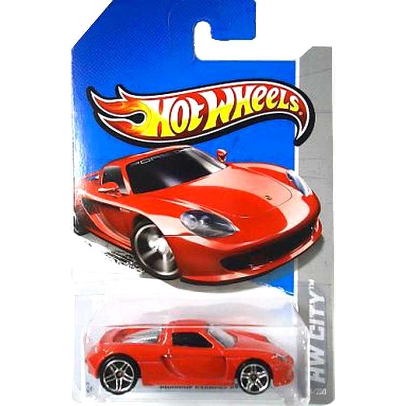 2013 Hot Wheels Porsche Carrera GT vermelho X1664 series 4/250 escala 1/64