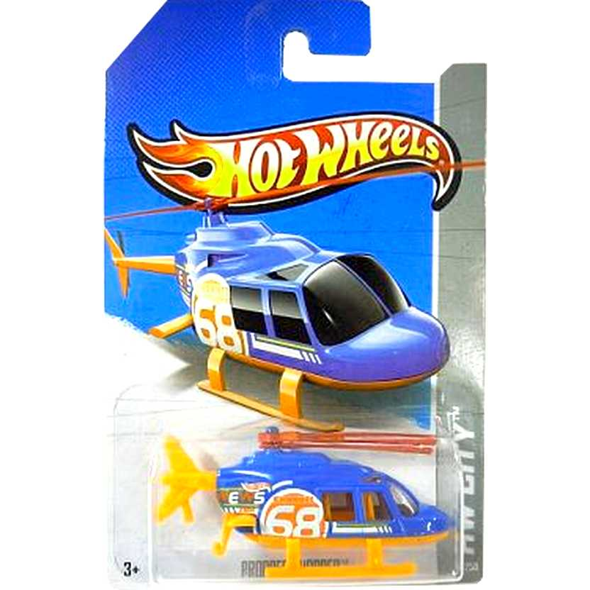 2013 Hot Wheels Propper Chopper azul X1694 series 42/250 escala 1/64