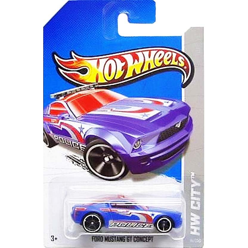 2013 Hot Wheels Treasure Hunt Ford Mustang GT Concept Police X1671 série 14/250 T-Hunt