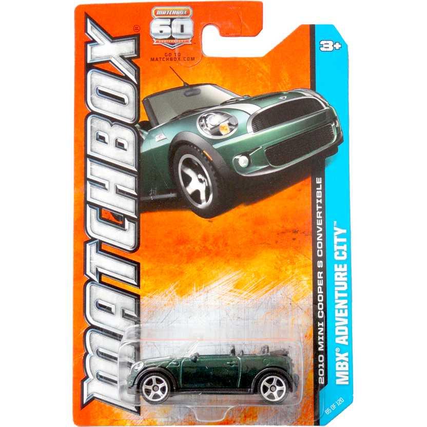 2013 Matchbox 2010 Mini Cooper S convertible (conversível) Y0850 escala 1/64