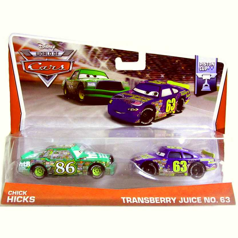 2014 Disney World of Cars Chick Hicks e Transberry Juice num. 63 - Piston Cup 5/16 BDW83