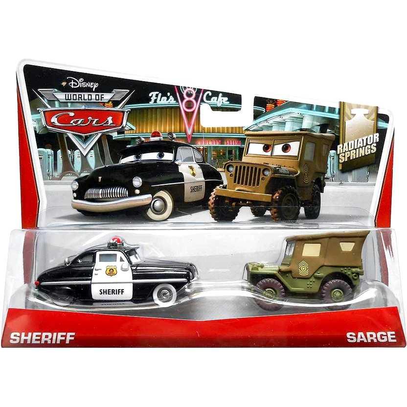 2014 Disney World of Cars Sheriff e Sarge - Radiator Springs 5/15 BDW84 escala 1/55
