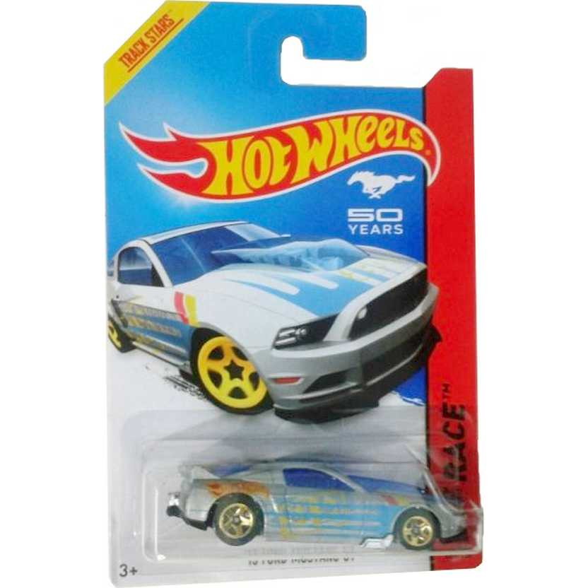 2014 Hot Wheels 13 Ford Mustang GT prata BFG58 series 161/250 escala 1/64