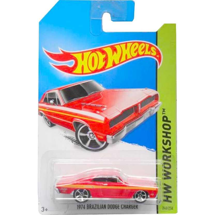 2014 Hot Wheels 1974 Brazilian Dodge Charger vermelho BFG72 series 240/250 escala 1/64