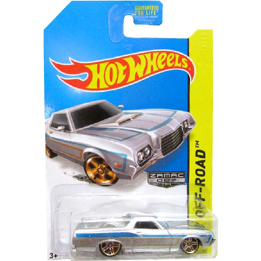2014 Hot Wheels 72 Ford Ranchero Zamac series 134/250 BFG83 escala 1/64