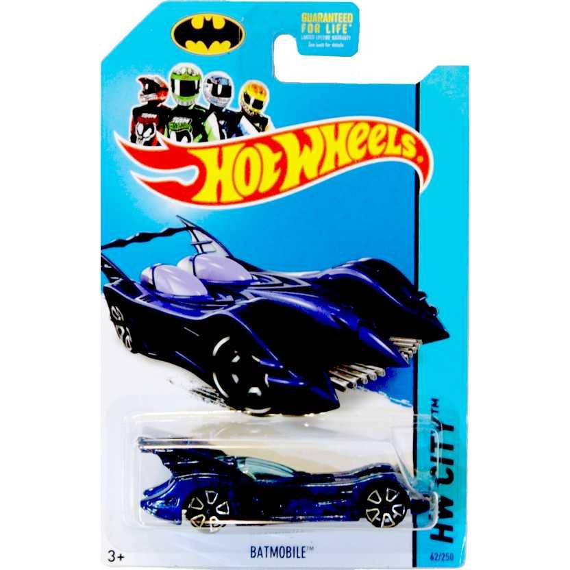 2014 Hot Wheels Batmobile (azul) Batman 75th Anniversary series 62/250 BFC74