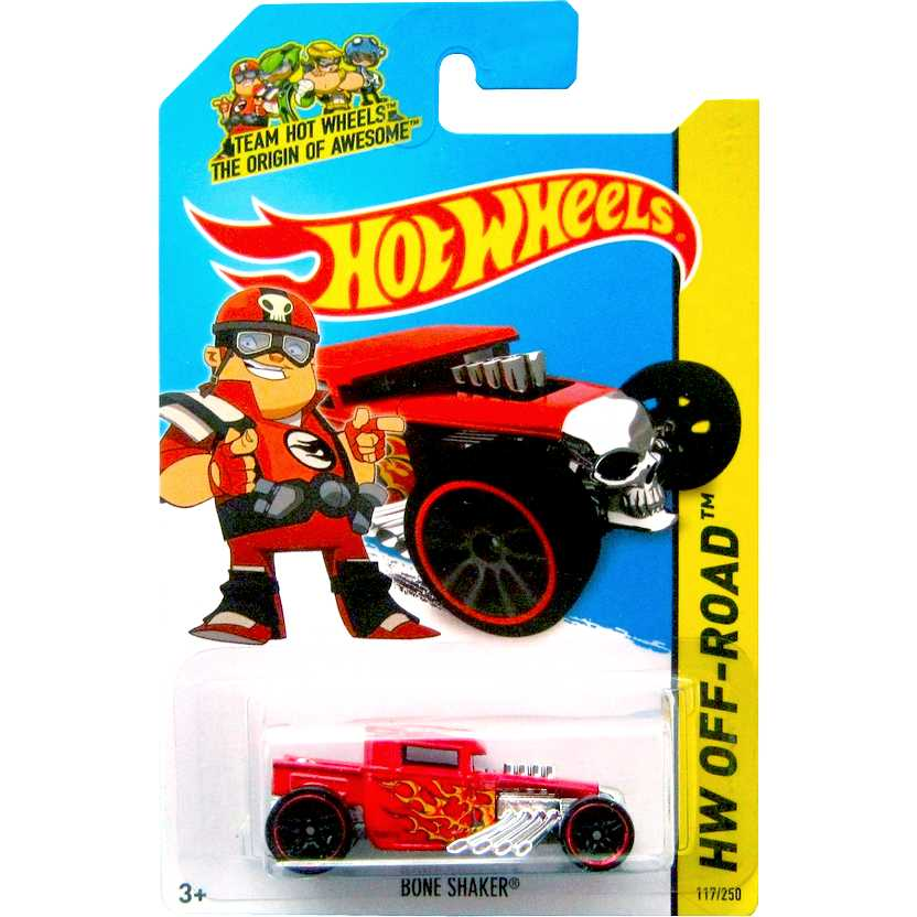 2014 Hot Wheels Bone Shaker vermelho BFD06 series 117/250 escala 1/64
