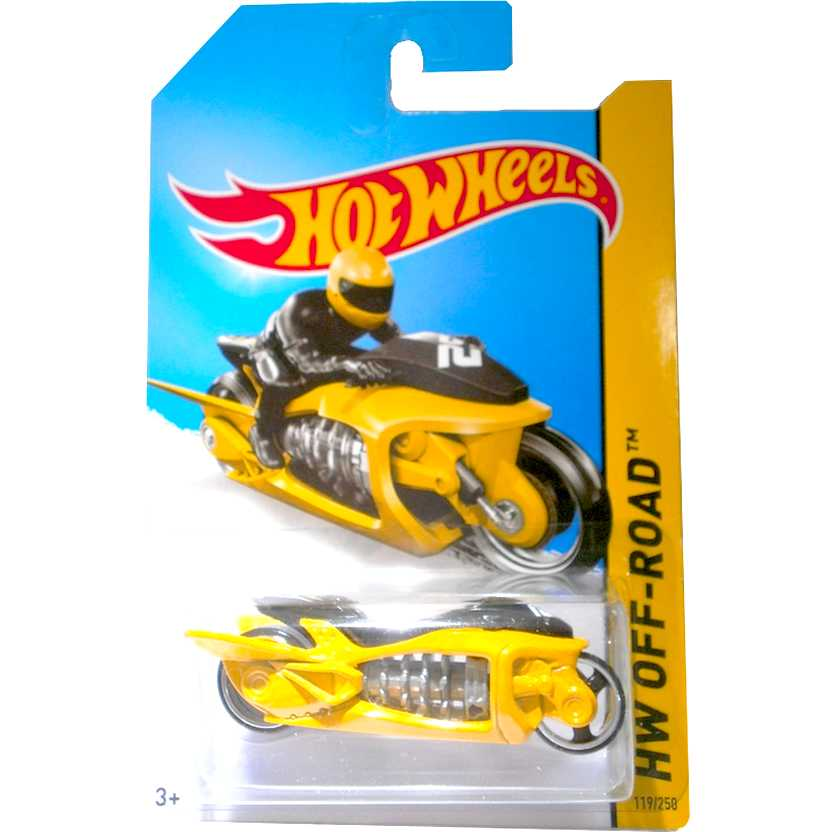 2014 Hot Wheels Fly-By amarelo BDC99 series 119/250 escala 1/64