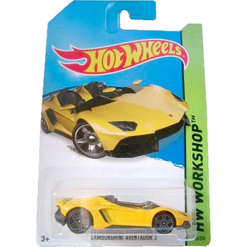 2014 Hot Wheels Lamborghini Aventador J amarelo BFD70 series 196/250 escala 1/64