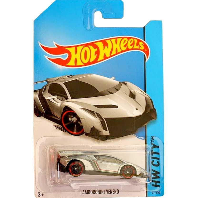 2014 Hot Wheels Lamborghini Veneno series 37/250 BDC79 escala 1/64 HW City