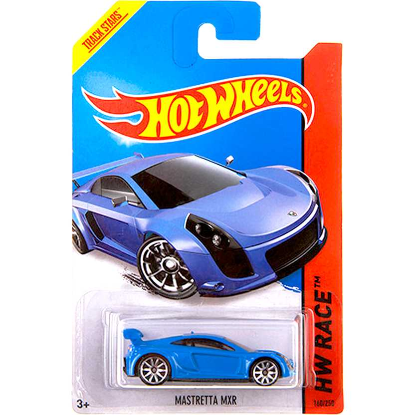 2014 Hot Wheels Mastretta MXR azul BDD05 series 160/250 escala 1/64