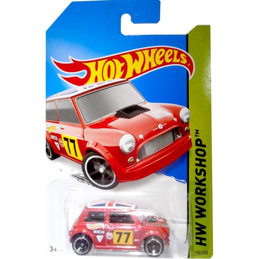 2014 Hot Wheels Morris Mini vermelho BFD68 series 194/250 escala 1/64