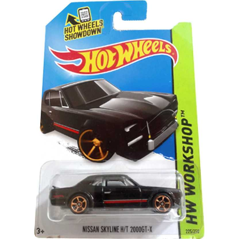 2014 Hot Wheels Nissan Skyline H/T 2000GT-X series 225/250 BFF04 escala 1/64