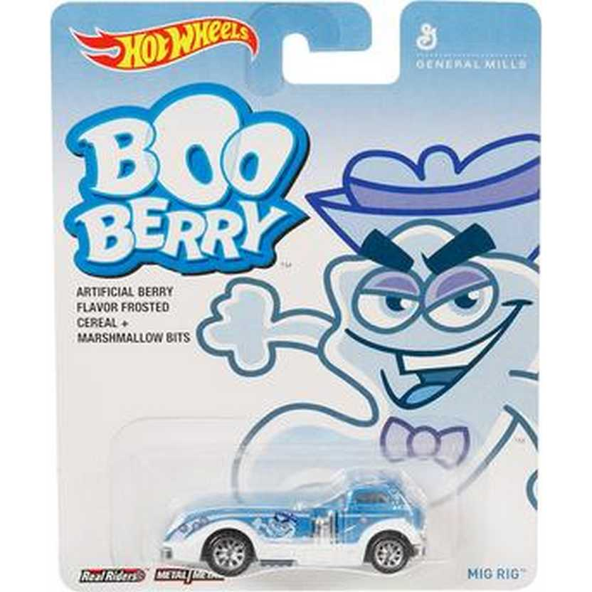 2014 Hot Wheels Pop Culture Boo Berry General Mills Mig Rig Real Riders BDR57 escala 1/64