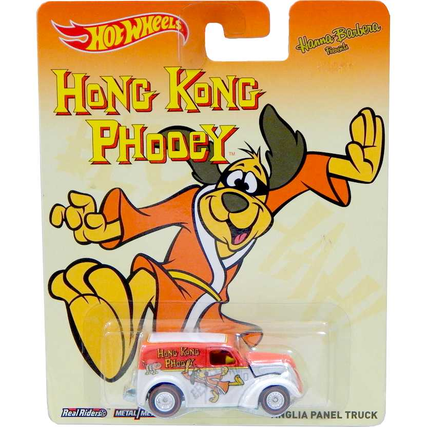 2014 Hot Wheels Pop Culture Hanna Barbera Hong Kong Phooey Anglia Panel Truck BDT02 1/64