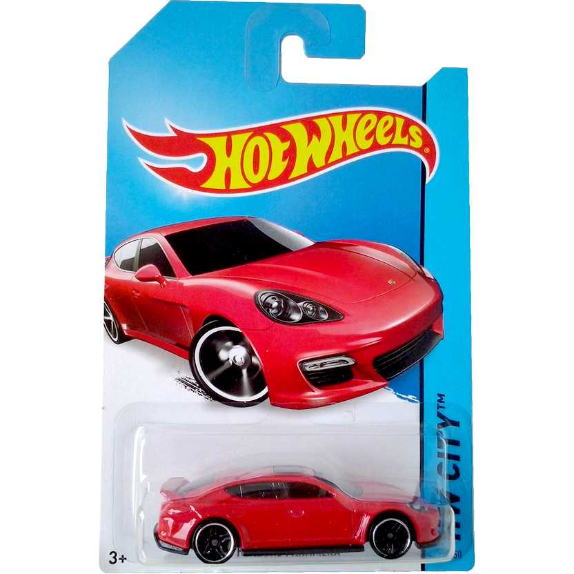 2014 Hot Wheels Porsche Panamera vermelho BFF93 series 40/250 escala 1/64
