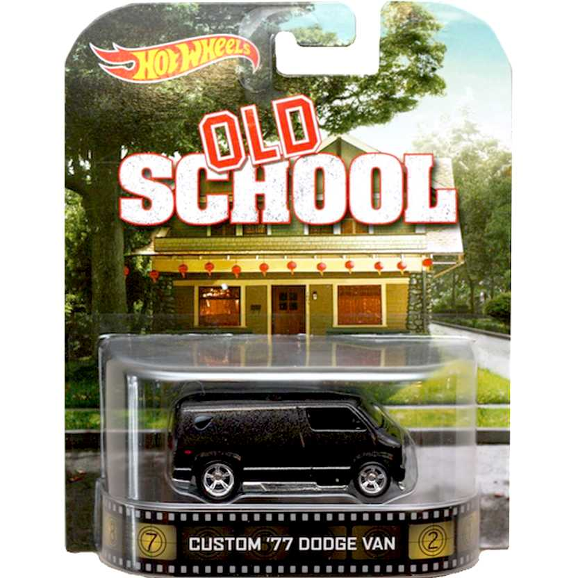 2014 Hot Wheels Retro Entertainment Custom 77 Dodge Van Old School BDT88 escala 1/64