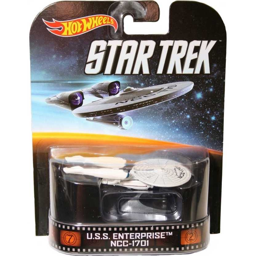 2014 Hot Wheels Retro Entertainment U.S.S. Enterprise NCC-1701 Star Trek Ship BDT85