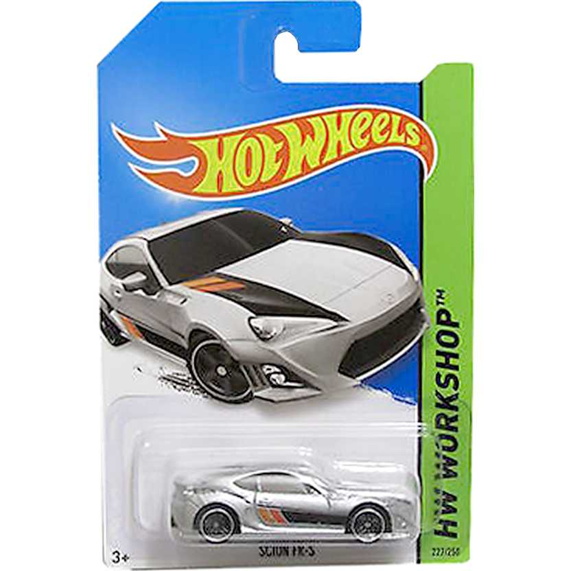 2014 Hot Wheels Scion FR-S prata BFF06 series 227/250 escala 1/64