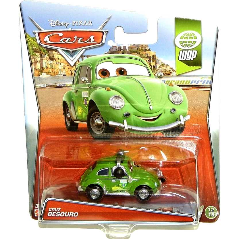 2015 Cars 2 Disney Pixar Cruz Besouro ( Fusca ) WGP 12/15 escala 1/55
