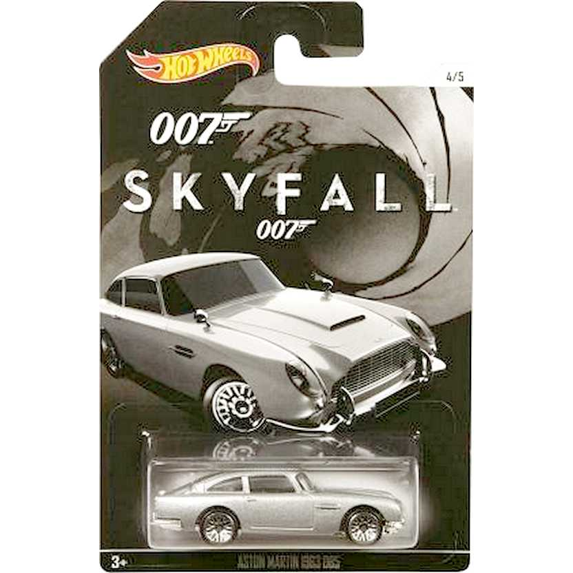 2015 Hot Wheels 007 James Bond Aston Martin 1963 DB5 Skyfall CGB79 escala 1/64