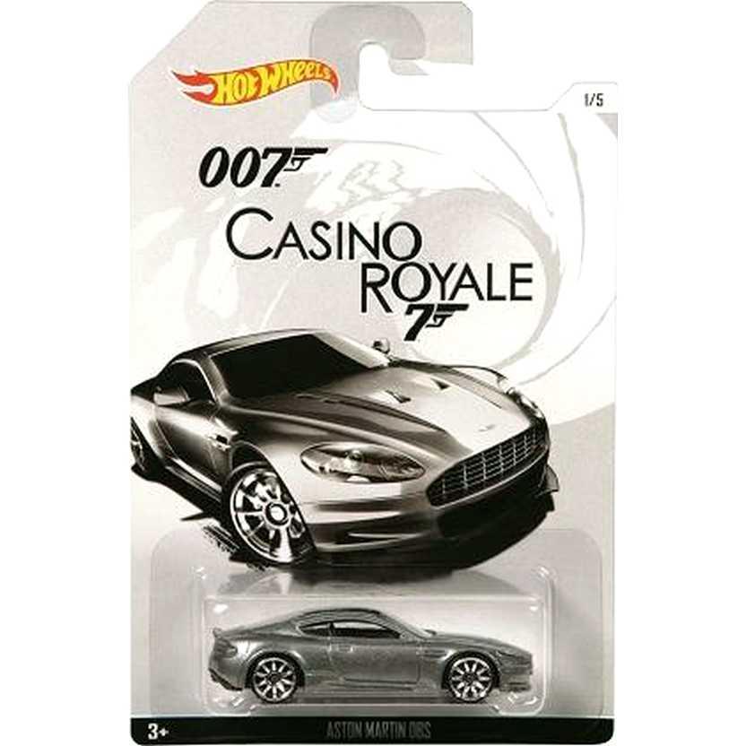 2015 Hot Wheels 007 James Bond Aston Martin DBS Casino Royale CGB78 escala 1/64
