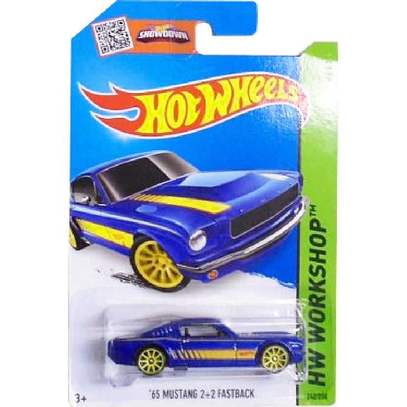 2015 Hot Wheels 65 Mustang 2+2 Fastback series 242/250 CFJ19 escala 1/64