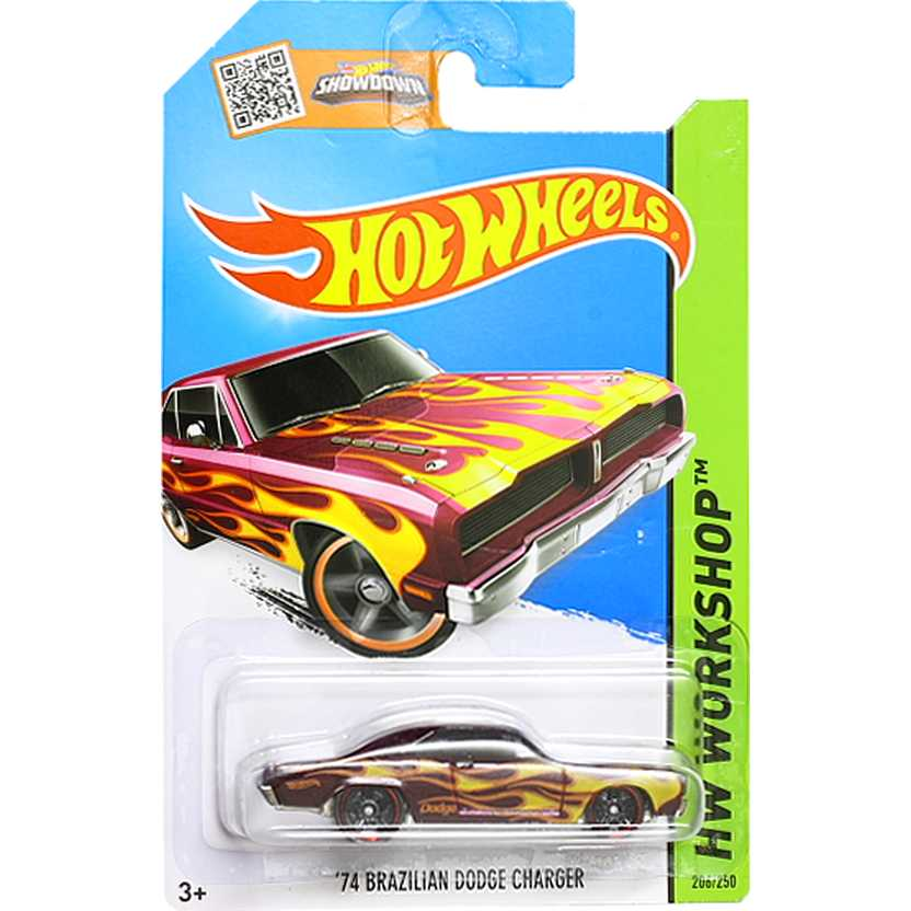 2015 Hot Wheels 74 Brazilian Dodge Charger CFH37 series 206/250 escala 1/64