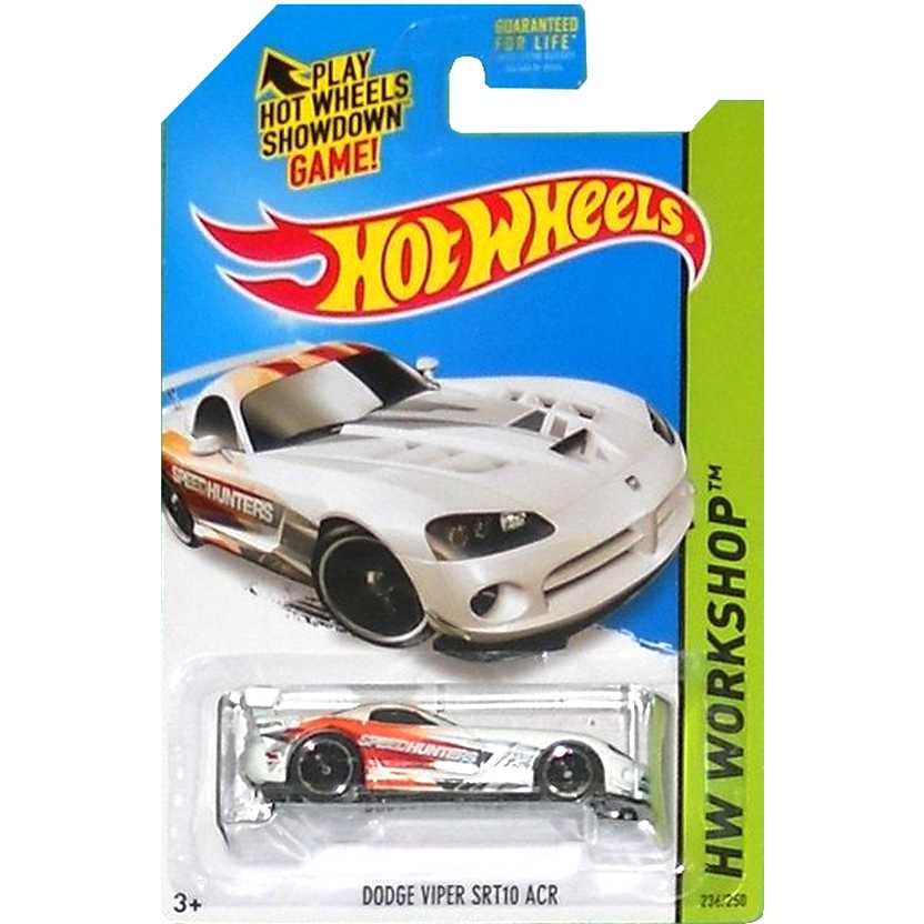 2015 Hot Wheels Dodge Viper SRT10 ACR branco CFJ13 series 236/250