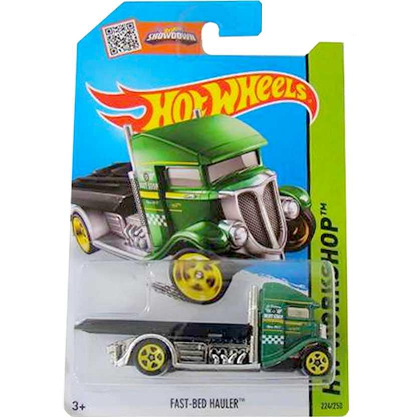 2015 Hot Wheels Fast-Bed Hauler verde series 224/250 CFH28 Guincho escala 1/64