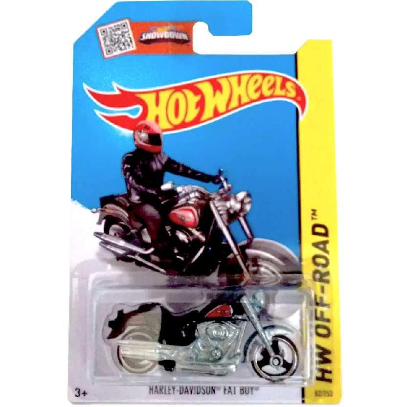 2015 Hot Wheels Harley-Davidson Fat Boy series 82/250 CFK37 escala 1/64