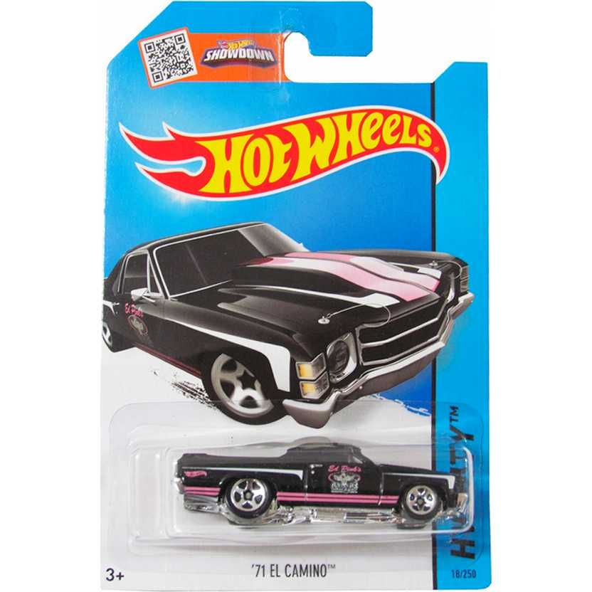 2015 Hot Wheels pickup 71 El Camino series 18/250 CFH49 escala 1/64