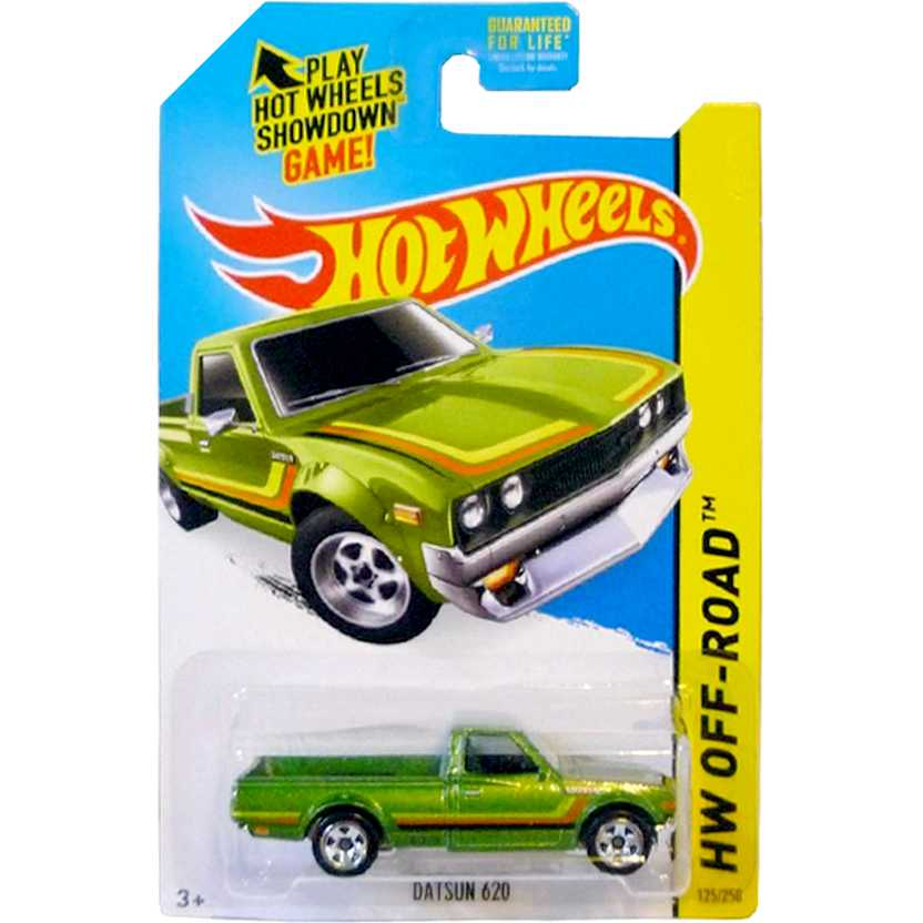 2015 Hot Wheels Pickup Datsun 620 series 125/250 CFK72 escala 1/64