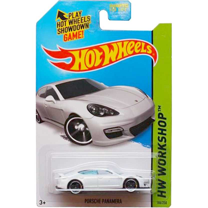 2015 Hot Wheels Porsche Panamera branca series 186/250 CFH85 escala 1/64