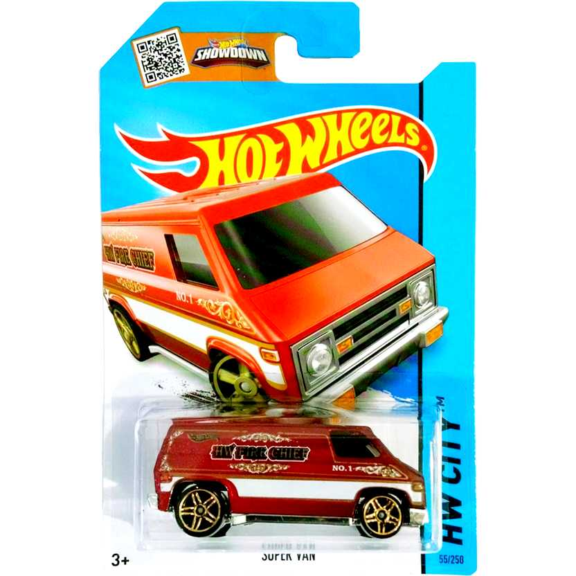 2015 Hot Wheels Super Van vermelho CFH75 series 55/250 escala 1/64