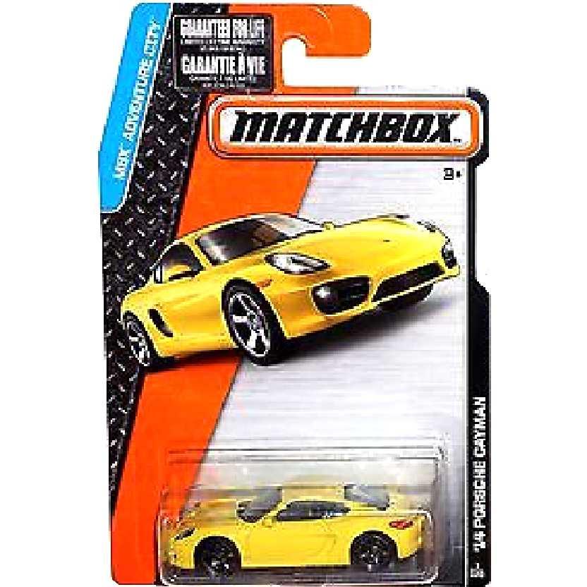 2015 Matchbox 14 Porsche Cayman amarelo CFV75 serie 1/120 escala 1/64