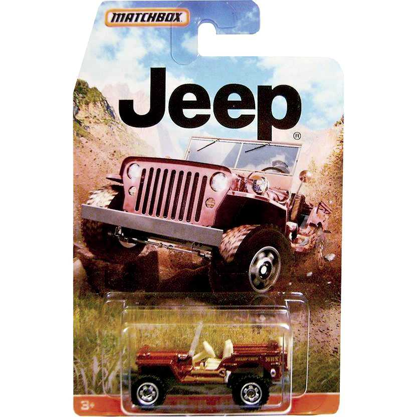 2015 Matchbox Jeep Willys (1943) escala 1/64 DJ666-0910
