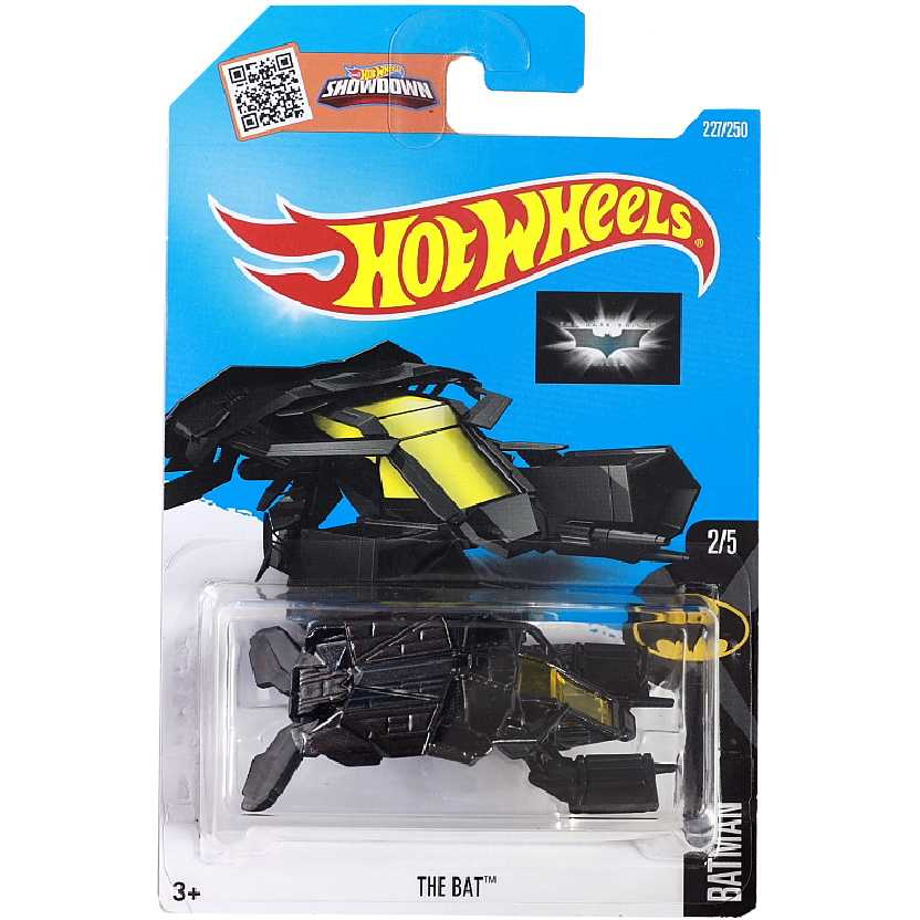 2016 Hot Wheels Batman: The Dark Knight Rises The Bat 2/5 227/250 DHT16 escala 1/64