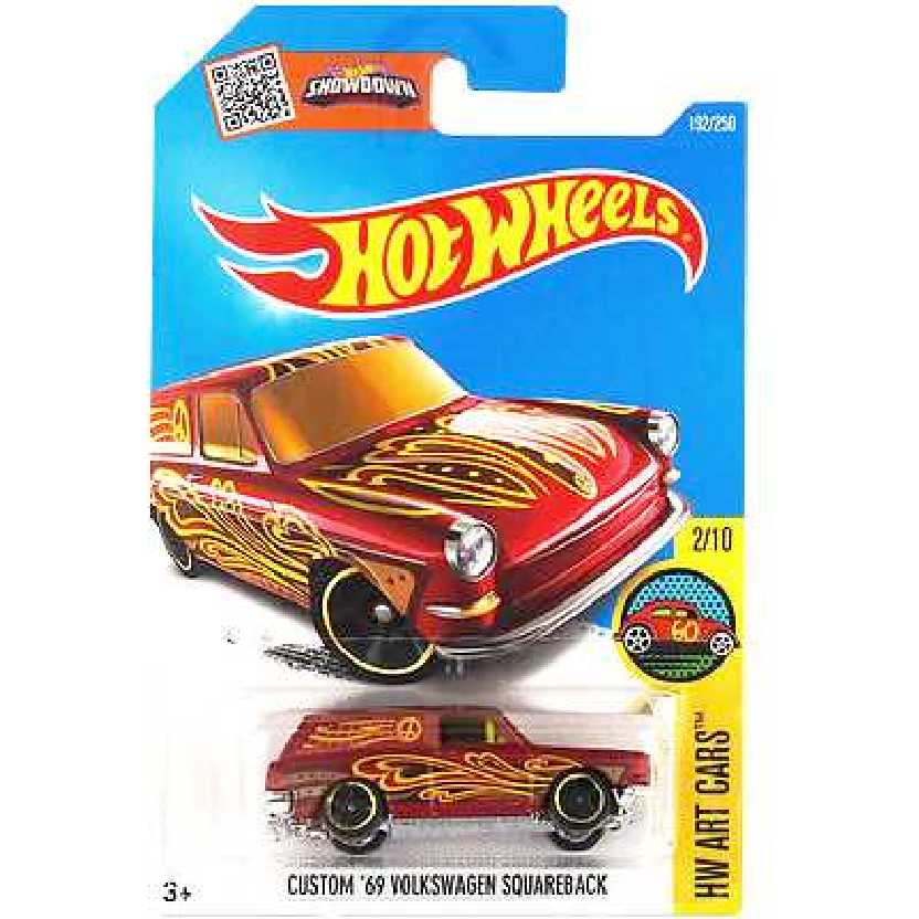 2016 Hot Wheels Custom 69 VW Squareback (Variant) DHX65 series 2/10 192/250 escala 1/64