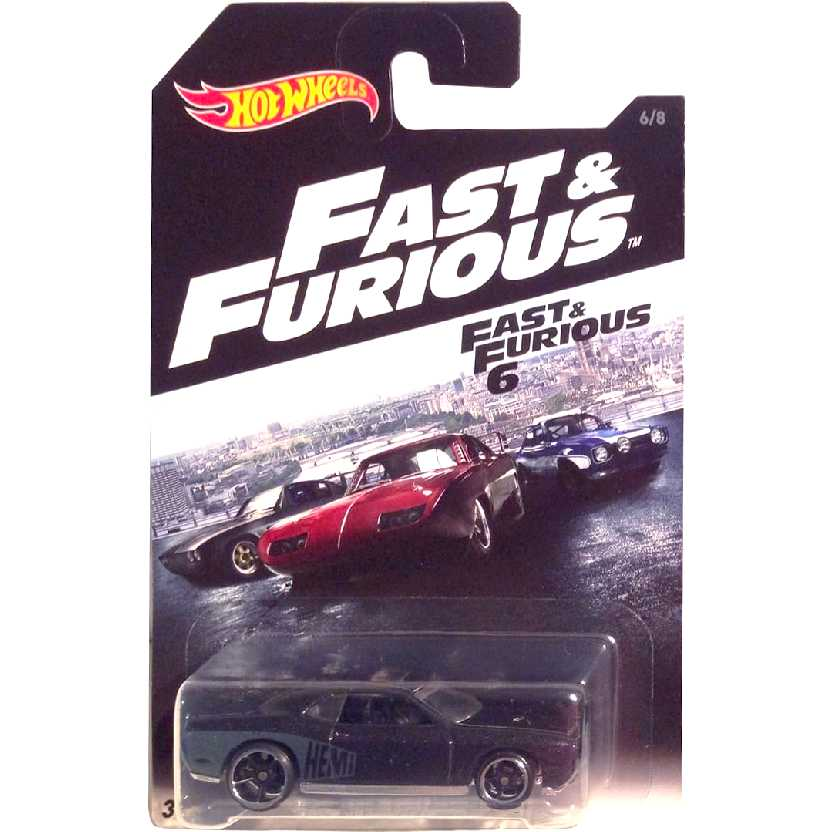 2016 Hot Wheels Fast & Furious 6 08 Dodge Challenger SRT8 DVG78 series 6/8 escala 1/64