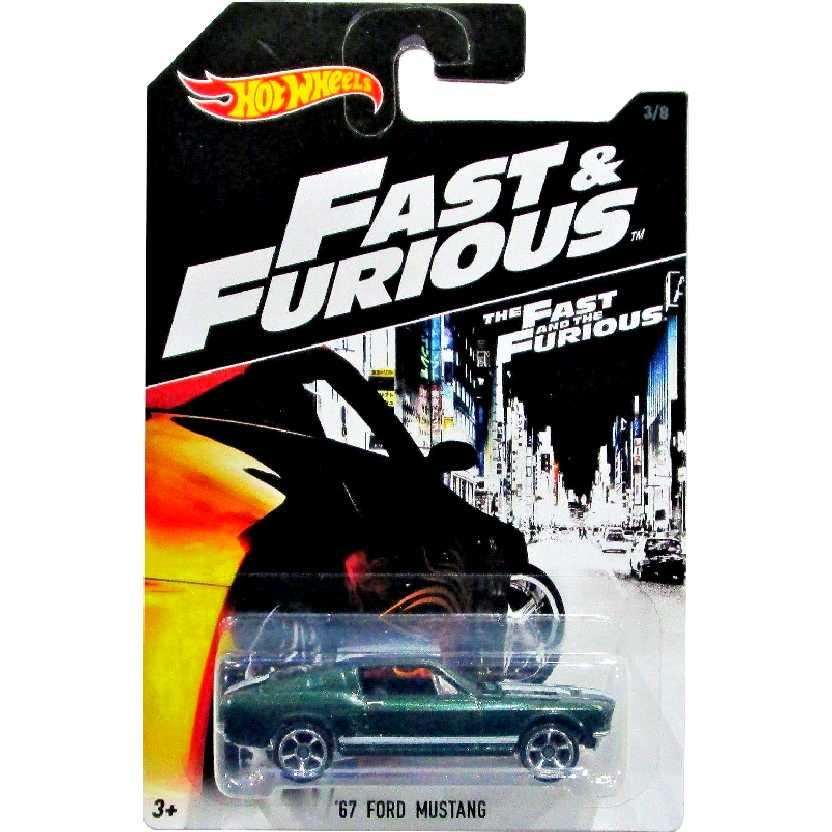 2016 Hot Wheels Fast & Furious 67 Ford Mustang Velozes e Furiosos DVG76 3/8 escala 1/64