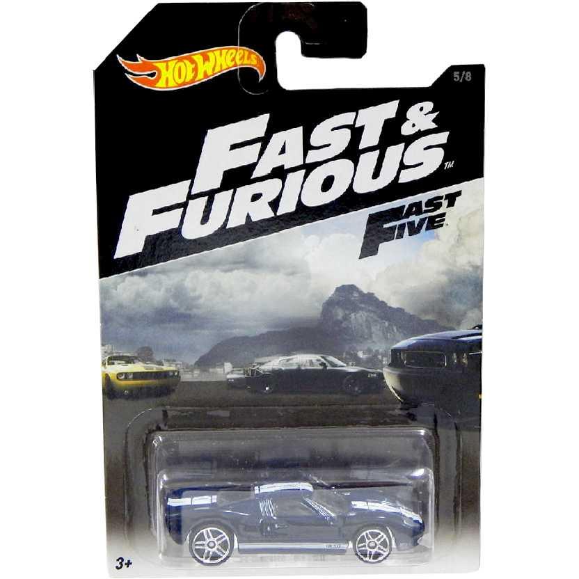 2016 Hot Wheels Fast Five Ford GT-40 Velozes e Furiosos 5 CJL38-0910 5/8 escala 1/64