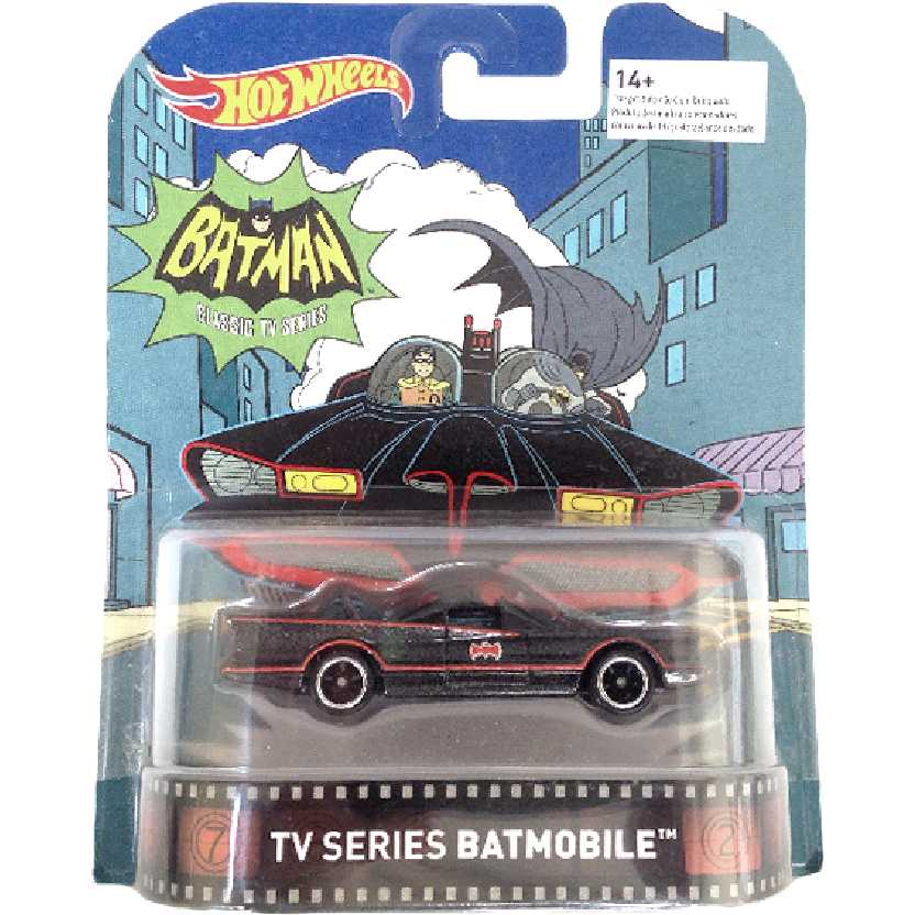 2016 Hot Wheels Retro Entertainment Batmóvel 1966 TV series DJF46 Batmobile escala 1/64