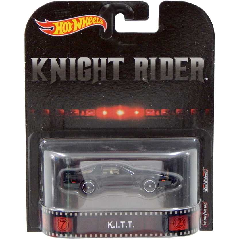 2016 Hot Wheels Retro Entertainment Knight Rider (Super Máquina) K.I.T.T. DWJ74 escala 1/64