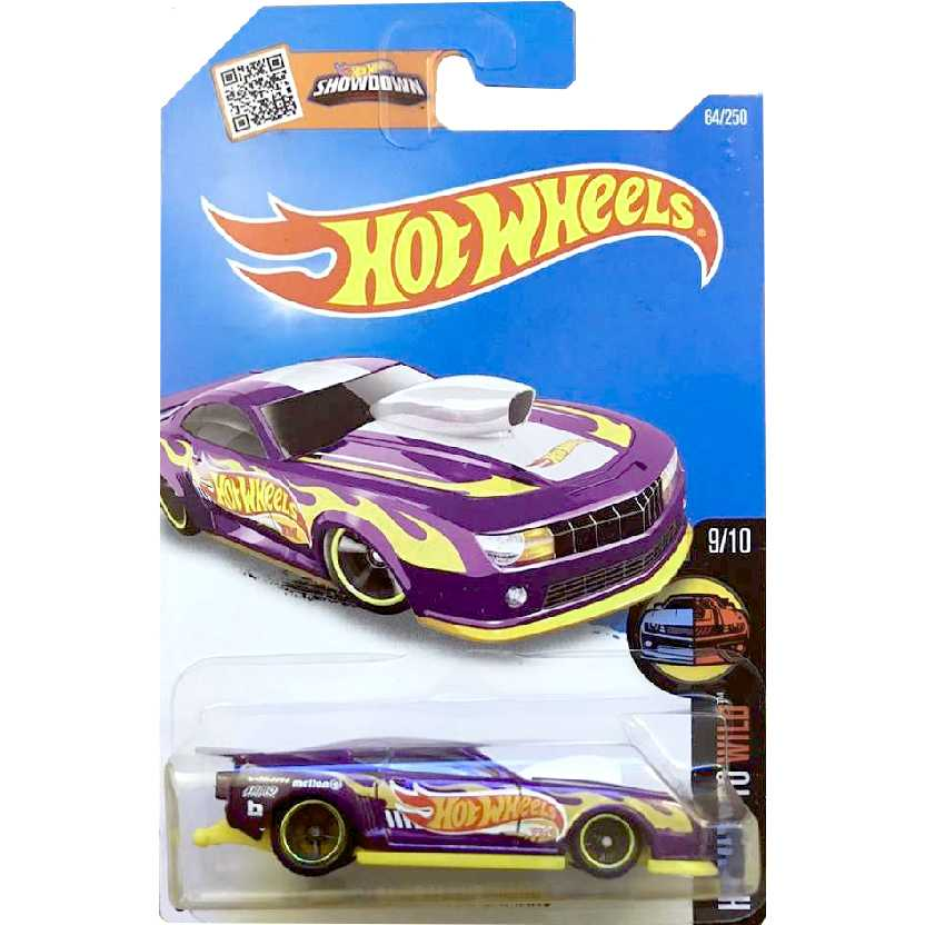 2016 Hot Wheels Super T-Hunt Superized 10 Pro Stock Camaro 9/10 64/250 DHT78 escala 1/64
