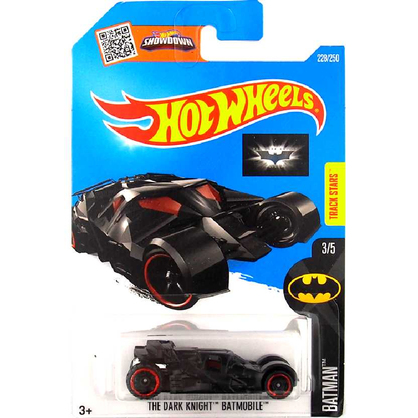 2016 Hot Wheels The Dark Knight Batmobile series 3/5 228/250 DHT17 escala 1/64